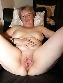 Desirable  old milf puts on provocative underwear